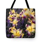 Lavender And Irises Tote Bag