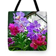 Lavender And Red Orchids At Maerim Orchid Farm In Chiang Mai-tha Tote Bag