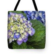 Lavender Blue Hydrangea Blossoms Tote Bag