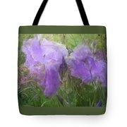 Lavender Blue Iris Garden Tote Bag