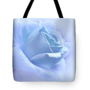 Lavender Blue Rose Flower Tote Bag