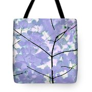 Lavender Blues Leaves Melody Tote Bag