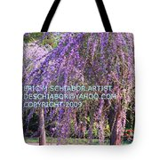 Lavender Butterfly Bush Tote Bag