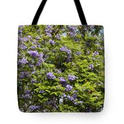 Lavender-colored Blooming Tree Tote Bag