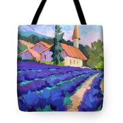 Lavender Field In St. Columne Tote Bag