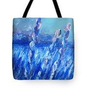 Lavender Field Landscape Tote Bag