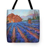 Lavender Field Provence Tote Bag