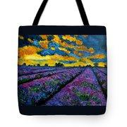Lavender Fields At Dusk Tote Bag