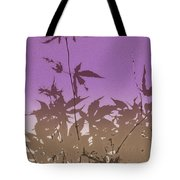 Purple Haiku Tote Bag