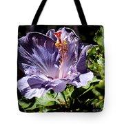 Lavender Hibiscus Tote Bag