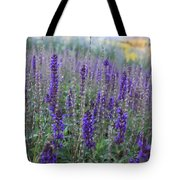 Lavender In The City Park Tote Bag