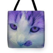 Lavender Kitten Tote Bag