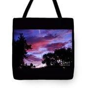 Lavender Pink And Blue Sunrise Tote Bag