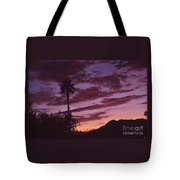 Lavender Red And Gold Sunrise Tote Bag
