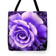 Lavender Rose With Brushstrokes Tote Bag