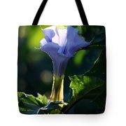 Lavender Trumpet Flower Tote Bag