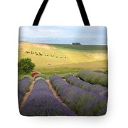 Lavender Valley Tote Bag by Carol Groenen