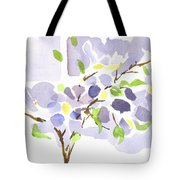 Lavender With Missouri Dogwood In The Window Tote Bag