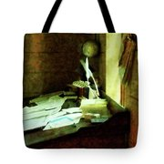 Lawyer - Desk With Quills And Papers Tote Bag by Susan Savad