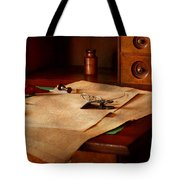 Lawyer - Optician - Reading The Fine Print  Tote Bag by Mike Savad