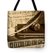 Lawyer - The Constitutional Lawyer In Black And White Tote Bag