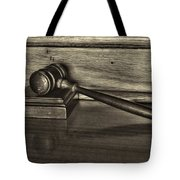 Lawyer - The Gavel Tote Bag by Paul Ward