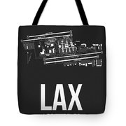 Lax Los Angeles Airport Poster 3 Tote Bag
