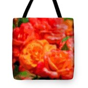 Layer Art Flowers Roses Tote Bag