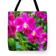 Layer Cut Out Art Flower Orchid Tote Bag