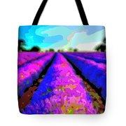Layer Landscape Art Lavender Field Tote Bag