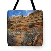 Layered Sandstone Tote Bag