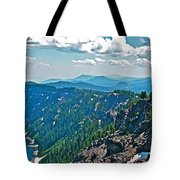 Layers Of Mountains From Watchman Overlook In Crater Lake National Park-oregon  Tote Bag