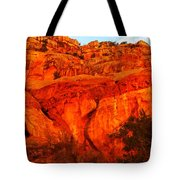 Layers Of Orange Rock Tote Bag
