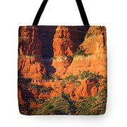 Layers Of Red Rock Tote Bag