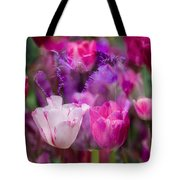 Layers Of Tulips Tote Bag