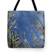 Laying In A Feild Looking Up Tote Bag
