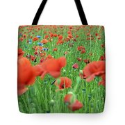 Laying In The Poppy Field Tote Bag