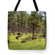 Lazily Grazing Bison Tote Bag