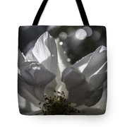Lazy Afternoon White Rose Tote Bag
