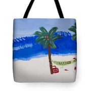 Lazy Beach Tote Bag by Melissa Dawn