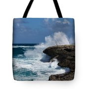 Lazy Fishing From The Rocks - No Fishermen Tote Bag