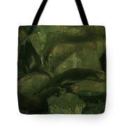 Lazy Sea Lions Tote Bag by Jeff Swan