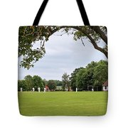 Lazy Sunday Afternoon - Cricket On The Village Green Tote Bag