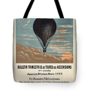 Le Ballon Advertising For French Aeronautical Journal Tote Bag
