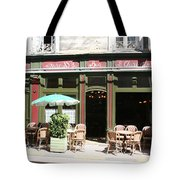 Le Charleston Bar In Tournus Tote Bag