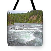 Le Hardy Rapids In Yellowstone River In Yellowstone National Park-wyoming   Tote Bag