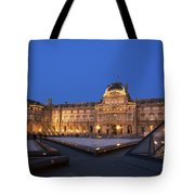Le Louvre Palace Buildings And Pyramids Tote Bag