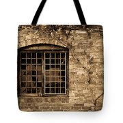 Leaded Glass Window In Sepia Tote Bag