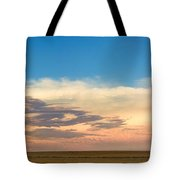 Leading Edge Storm Front And Moon Panorama Tote Bag