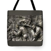 Leading The Way - State Of Delaware Monument Detail-j Gettysburg Tote Bag
